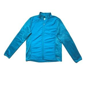 Running Room Zip-Up Jacket Blue Lined Size M